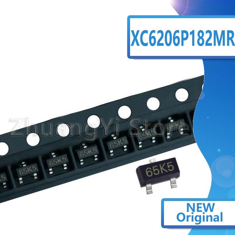 100pcs/lot XC6206P182MR SOT-23 65K5 1.8V XC6206-1.8V Regulator Chip