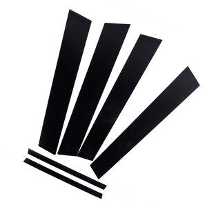 Image 3 - 6 adet araba pencere Pillar mesajları kapak Trim siyah ayna etkisi Honda Civic 2006 2011 için otomatik pencere ayağı direkleri kapak Trim