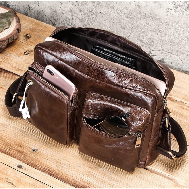 Small Genuine Leather Briefcase For 9.7