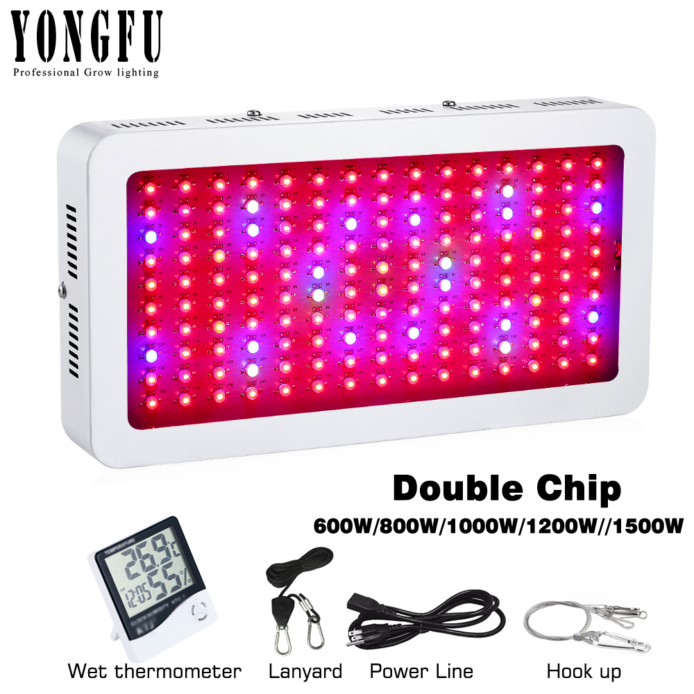 LED Grow Light Full Spectrum Double Chip 600W 800W 1000W 1200W 1500W Lamp For Plants For Indoor Hydroponics Grow Tent Phytolight