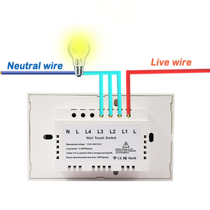 Image 5 - MEKISS RF wireless touch switch US standard light switch supports RF433MHZ remote control 1gang2gang3gang switch interrupter