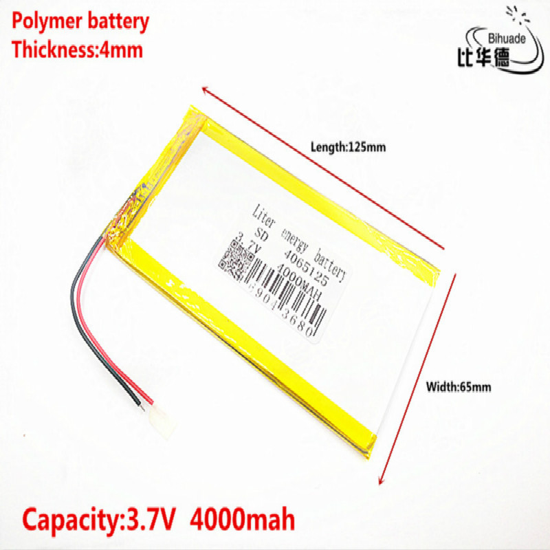 Good Qulity <font><b>3.7V</b></font>,<font><b>4000mAH</b></font> 4065125 Polymer lithium ion / Li-ion <font><b>battery</b></font> for tablet pc 7 inch 8 inch 9inch image