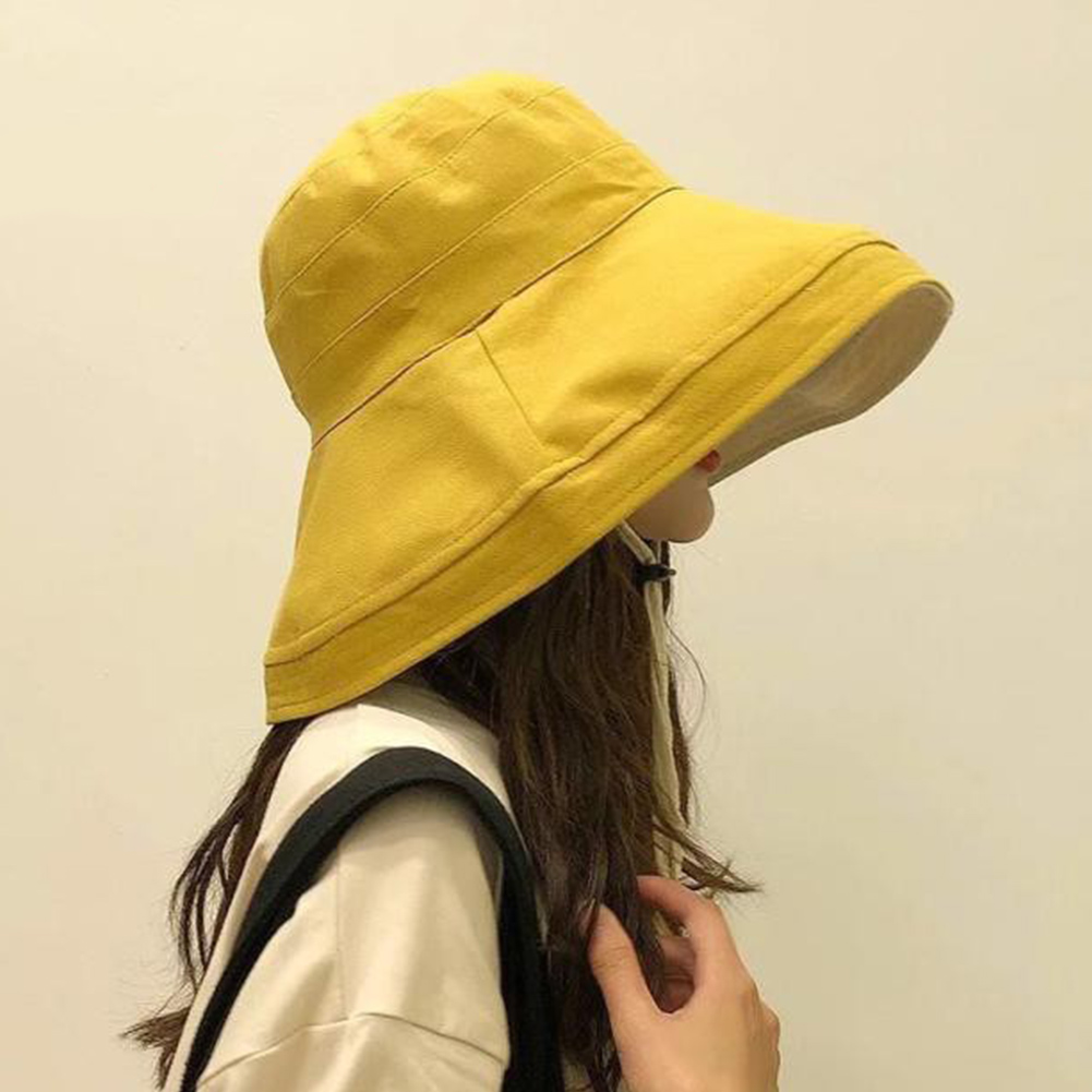 Women Fashion Casual Cycling Foldable Bucket Hat Summer Travel Gift Wide Brim Solid Soft Outdoor Sports Sun Protection Beach#734