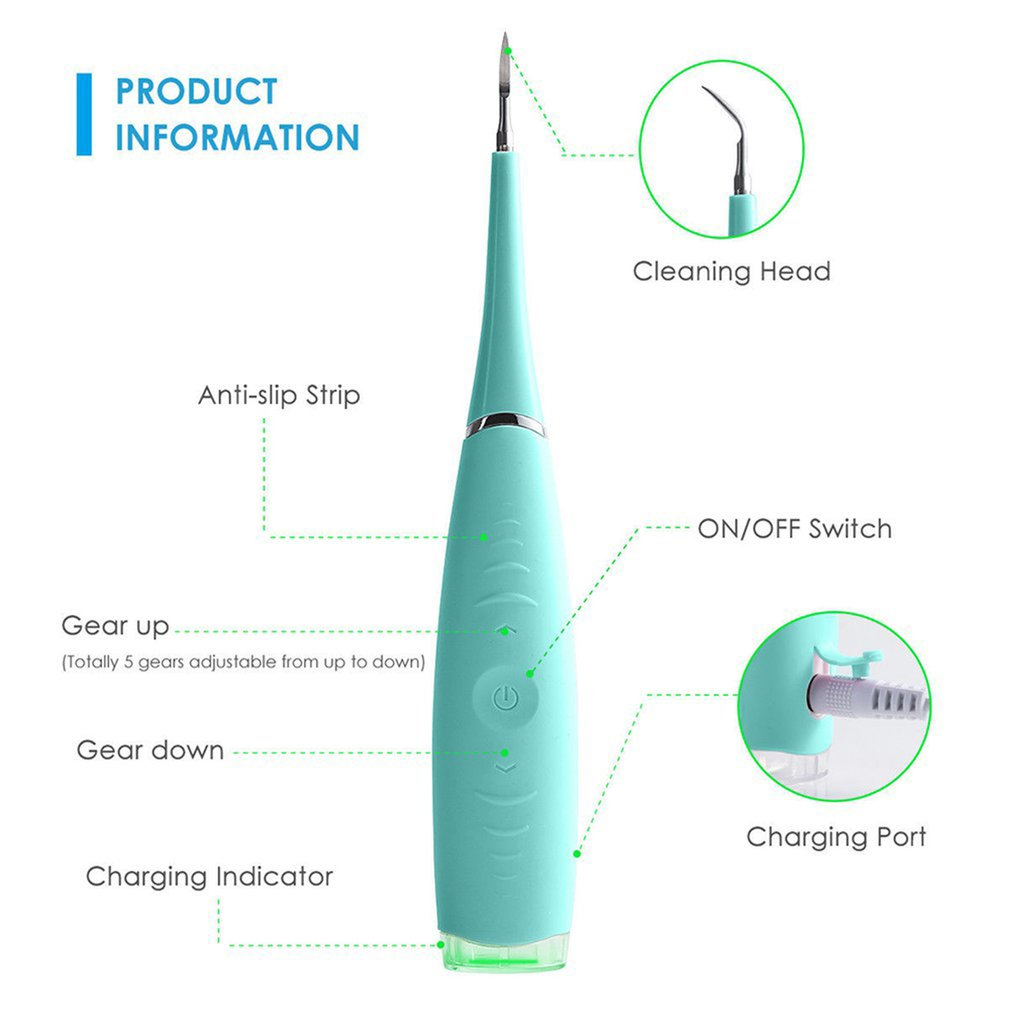 Бытовая чистка зубов, зубной камень, пятновыводитель, портативный Электрический Очиститель зубов 3