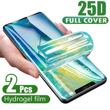 25D Curved Full Cover Hydrogel Film For iPhone XR XS X XS 11 Pro Max Soft Screen Protector For iPhone 11 7 8 6s Plus Glass Film