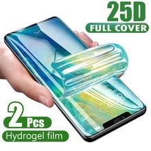 25D โค้งเต็มรูปแบบฟิล์ม Hydrogel สำหรับ iPhone XR XS XS X 11 PRO MAX ป้องกันหน้าจอสำหรับ iPhone 11 7 8 6 S PLUS ฟิล์มแก้ว