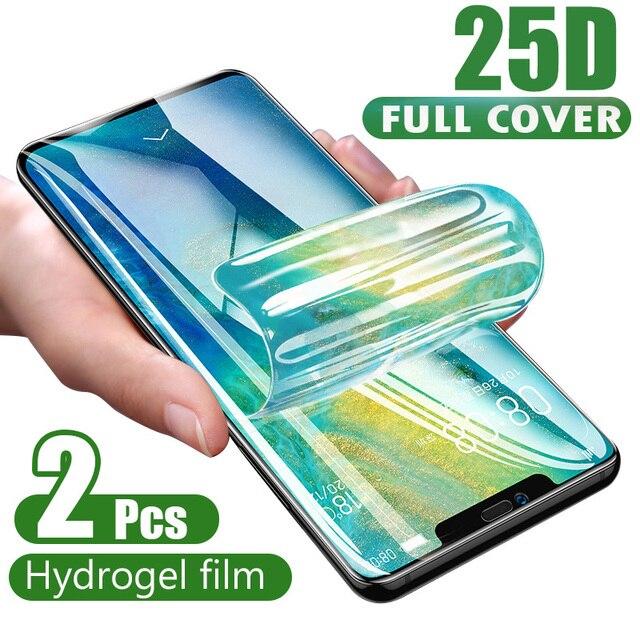 Película de hidrogel de cobertura completa curvada 25D para iPhone XR XS X XS 11 Pro Max, Protector de pantalla suave para iPhone 11 7 8 6s Plus, película de vidrio