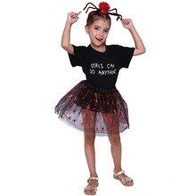 2 Pcs/set Children Halloween Cosplay Costume Girl Spiderman Headwear+skirt Kids Clothes Anime