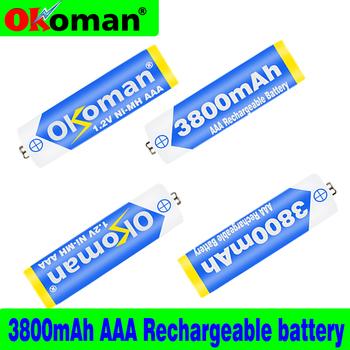 1 2v Ni-MH AAA bateria 3A 3800mAh akumulator aaa AAA ni-mh baterie akumulator do latarki zabawki tanie i dobre opinie Okoman aaa3800 3500 mAh Baterie Tylko Pakiet 1