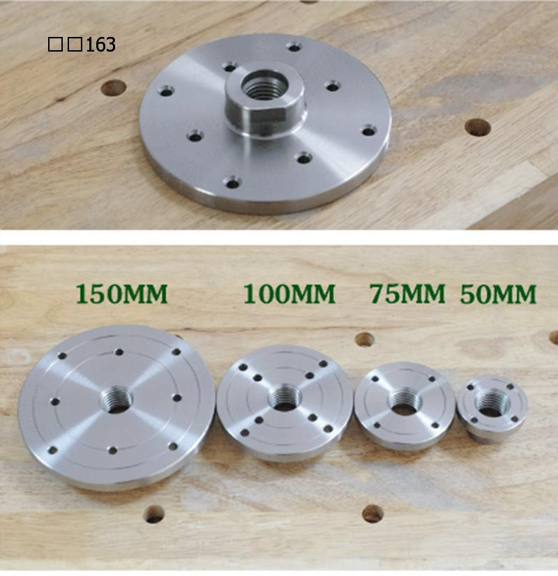 "Woodworking Lathe Accessories Lathe And Wood Connection Tools Thread Diameter 25.4MM  /1"" 8TPI Faceplate Flange For Wood Lathe"