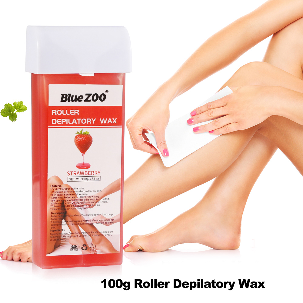 Blue ZOO 100g Roller Depilatory Wax Epilator Arm Leg Armpit Body Hair Removal Wax Multiple Flavors Hair Remover Tools