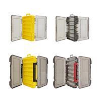 양면 낚시 태클 박스 12 14 구획 미끼 루어 후크 스토리지 박스 낚시 액세서리 플라스틱 스토리지 케이스