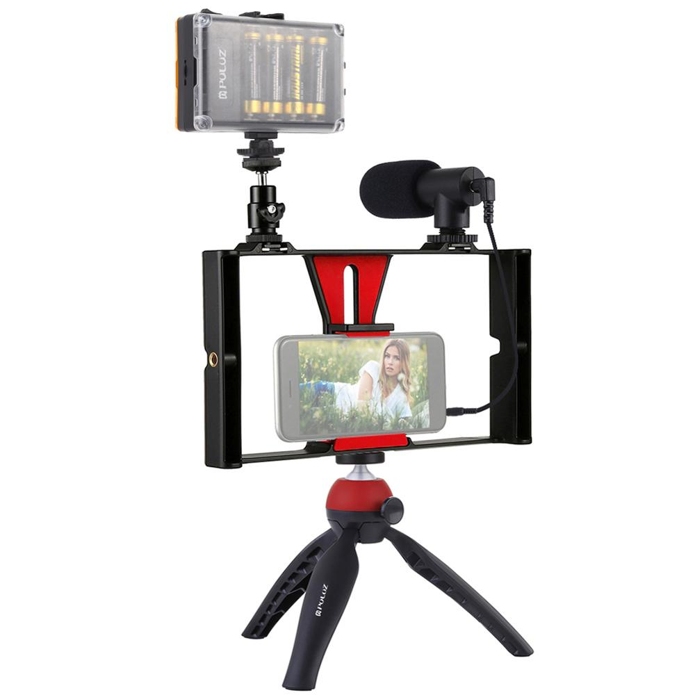 Photography Vlogging Professional Kit LEDlight Microphone Tripod Phone Stand for Phones Camera Live video Photographic equipment