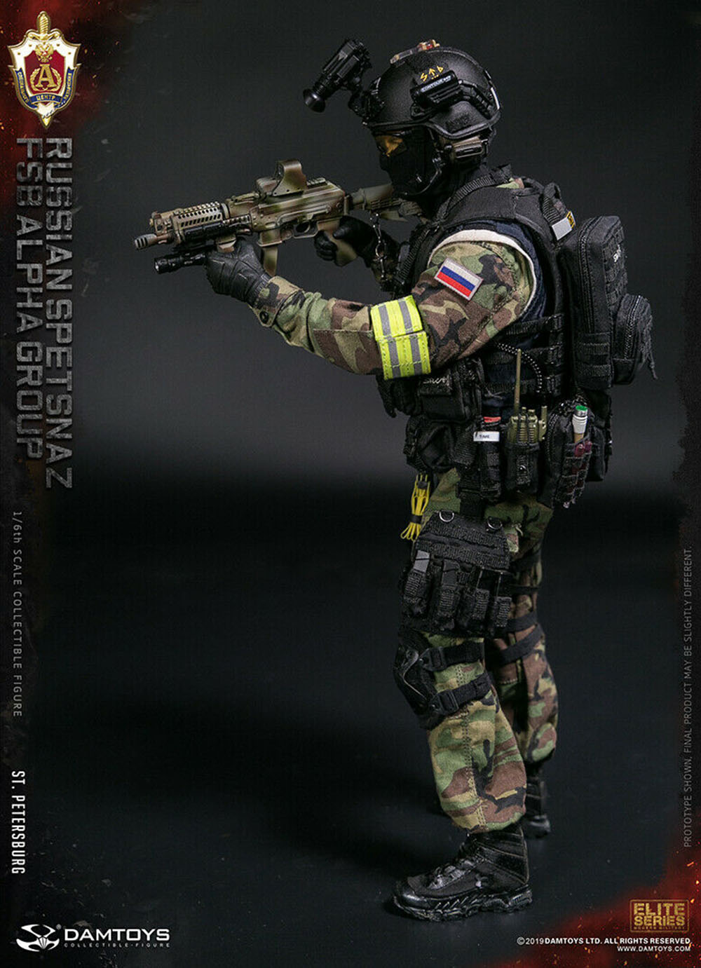 DAMTOYS 78071F 1:6 Russian Spetsnaz FSB Alpha Group St.Petersburg Action Figure