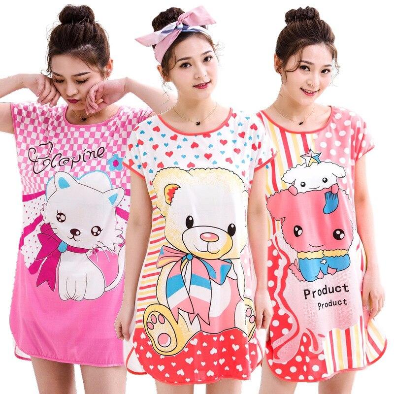 Cute Sleepwear Women  Night Dress Women  Milk Silk Lingerie  Lingerie Nightgown