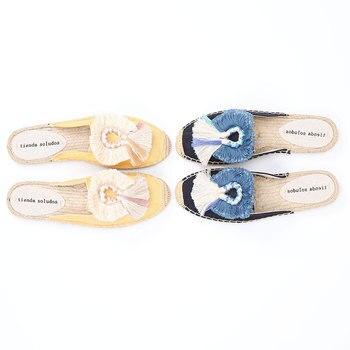 Zapatos De verano para Mujer Alpargatas planas De cáñamo, nueva oferta, 2020