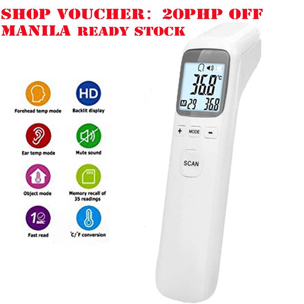 Newborn Baby Thermometer Infrared Digital Electronic LCD Body Measurement Forehead Ear Adult Body Fever IR Children
