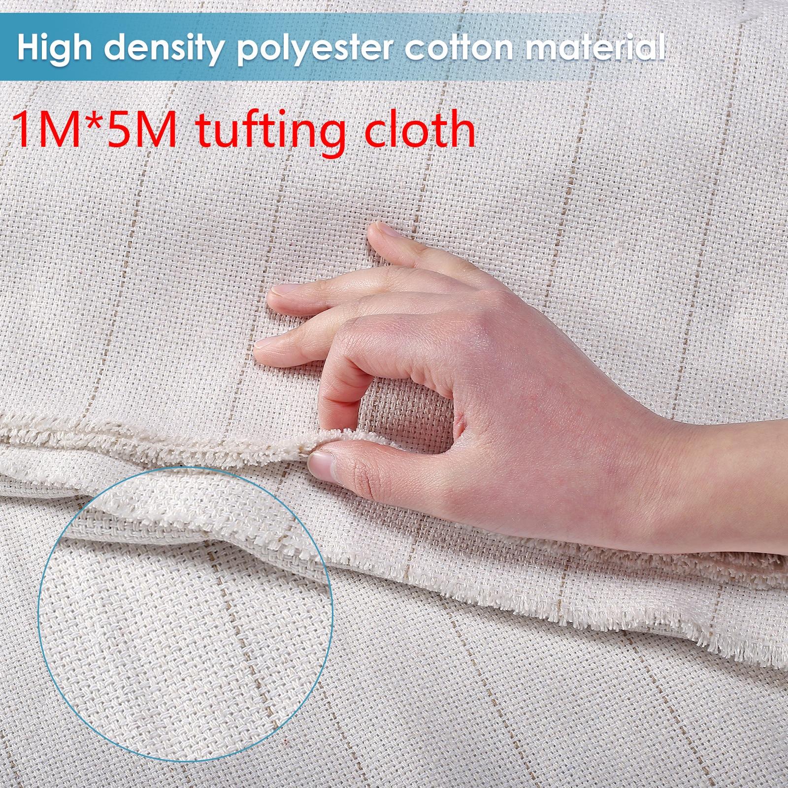 Primary tufting cloth Backing Fabric for using Rug tufting guns width 5m for Loop Pile Cut Loop Pile UK US EU Plug TD-01 TD-02