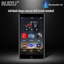 RUIZU – lecteur MP3 H1, écran HD tactile 4 pouces, Bluetooth 5.0, 8 go, lecteur de musique, prise en charge de la Radio FM, enregistrement vidéo E-book, avec intégré