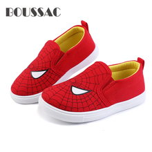 2019 Special Soft Boys Shoes Spiderman Sneakers Running Sports Kids Casual Flats Children Loafers Superman Batman Creative