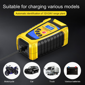 Image 4 - Car Battery Charger 6V/12V/24V 6A Pulse Repair Lead Acid Battery Charging For Motorcycle Car Truck LCD Display Digital Charger
