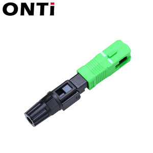 Image 2 - ONTi 200pcs SC UPC Single Mode Fiber Optic Fast Connector SC APC FTTH SC Quick Connector SC Adapter Field Assembly