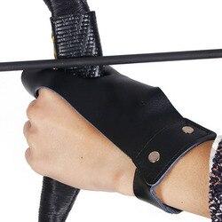 Łucznicze rękawice ochronne lewa osłona dłoni tradycyjny łuk i strzały ochraniacze na palce Recurve Bow Outdoor Shooting Hunting Supplies w Rękawice myśliwskie od Sport i rozrywka na