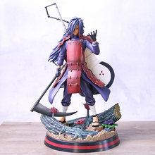 Naruto shippuden uchiha madara com gunbai fan ver. Figura de pvc estátua collectible modelo de brinquedo