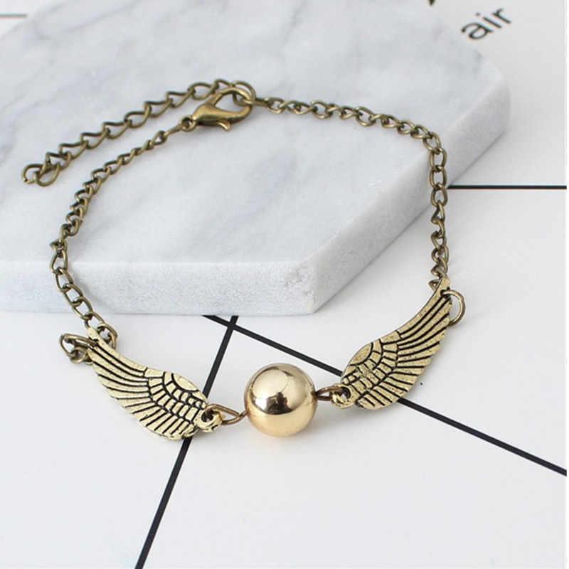 Bracelet d'aile de mode hyperbolique Vintage avec couvercle en alliage Bracelet d'élément de mouchard doré