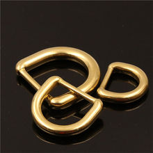 1 x Solid Brass Molded D ring Buckle for Leather Craft Bag Purse Strap Belt Webbing Dog Collar 15/20/25mm