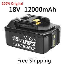 100% оригинал для Makita 18V 12000 мА/ч, Перезаряжаемые Мощность инструменты Батарея с светодиодный Литий-ионная LXT BL1860B BL1860 BL1850