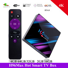 H96 Max TV Box Android 9.0 RK3318 Quad Core 64 Bit UHD 4K Smart TV Box 2.4G/ 5G Wifi BT4.0 HD Media Player Android Box TV(China)