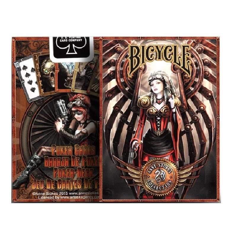 1pcs Bicycle Anne Stokes Steampunk Deck Magic Cards Playing Cards Magic Props Close Up Magic Tricks For Professional Magician