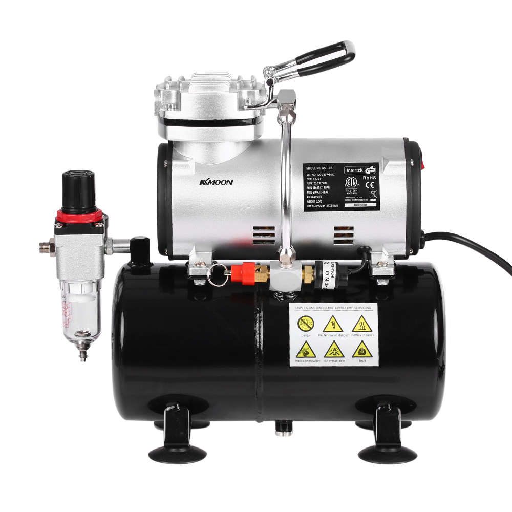 Compresseur d'aérographe à Piston professionnel 1/6 HP sans huile silencieux pompe à haute pression tatouage manucure pulvérisation compresseur d'air