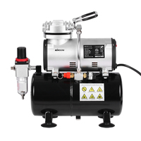 Professional 1/6 HP Piston Airbrush Compressor Oil less Quiet High pressure Pump Tattoo Manicure Spraying Air Compressor