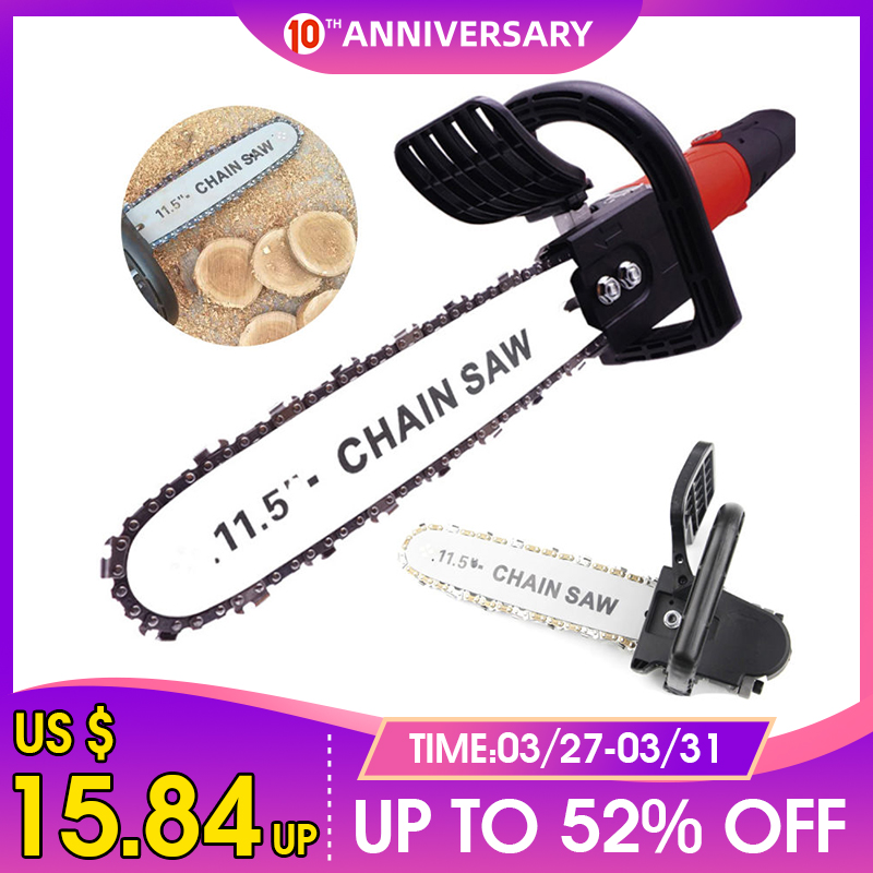 DIY Electric Saw 11.5 Inch Chainsaw Bracket Set Angle Grinder to Chainsaw converter For 100 Angle Grinder M10 M14 To Chain Saw