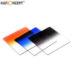 K&F CONCEPT 40 In 1 Case 24pcs Filter Square Graduated ND Color Filter Kit+9 Adapter Rings+2 holder+Lens Hood+4 Cases For Camera