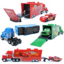 Disney Pixar Cars 2 Cars 3 mack truck+ маленький автомобиль McQueen 1:55 литой под давлением металлический сплав и пластиковый модельный автомобиль игрушки подарки для детей