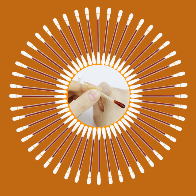 10-30-50-100Pcs Iodine Cotton Sticks Swab