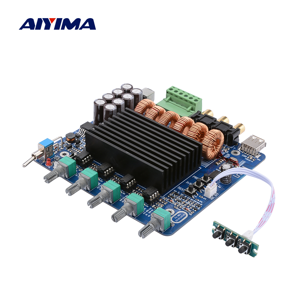 AIYIMA TDA7498E Subwoofer Amplifier 160Wx2 220W 2 1 Bluetooth Amplificador Power Amplifier Speaker Home Sound Theater DIY