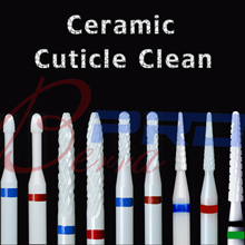 Proberra Ceramic Cuticle Clean Cutter edge dead skin Manicure Pedicure milling Accessories Burr remove Nail drill bit