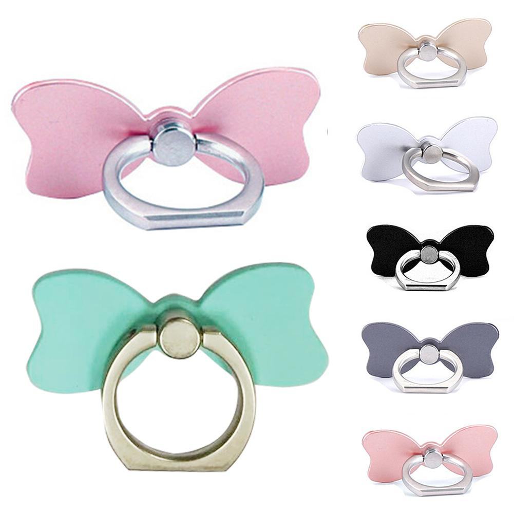 Novelty Mobile Phone Holder Bow Tie Phone Ring Holder 360 Degree Rotation Soporte Movil Telephone For Pc Tablet Phone Stand