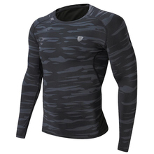 Mens Running Sports Long Sleeve T-shirt Gym Fitness Compression Quick Dry Skinny T Shirt Male Jogging Workout Tee Tops Clothing