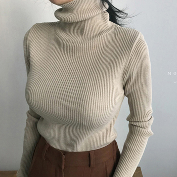 shintimes Autumn Winter Turtleneck Womens Sweaters Pullover Women Long Sleeve Knitted Sweater Womens Clothing Sweter Mujer 2020 seily winter 2019 letter computer knitted yellow turtleneck sweater women zipper high neck long sleeve knitwear pullover sweter