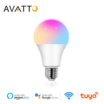 AVATTO Tuya 12W 15W WiFi Smart Light Bulb, E27 RGB LED Lamp Dimmable with Smart Life APP, Voice Control for Google Home, Alexa 1