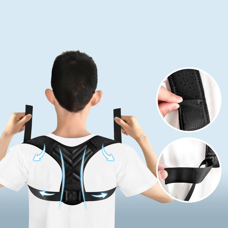 NEW Back Posture Corrector Belt Women Men Prevent Slouching Relieve Pain Posture Straps Clavicle Support Brace 3
