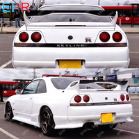 Carbon Fiber Black Glossy Finished For Nissan R33 Skyline GTR AS Style Shibi Devil Spoiler Blade Exterior accessories Body kit