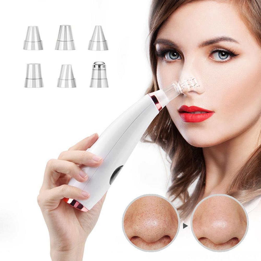 Vacuum Suction Blackhead Remover Facial Vacuum Pore Cleaner Spot Pimple Acne Removal Nose Face Skin Care Tool USB Charging