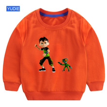 Ben10 Boys sweatshirt  Long Sleeves Sweater Kids Pullover Clothes Tops New print Tee Autumn Sweatshirt Child Baby