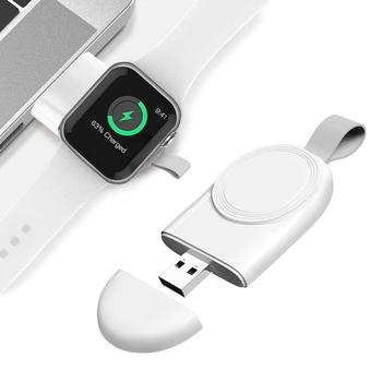 portable mini wireless charger for iwatch pocket magnetic charging dock station usb qi charger for apple watch series 1 2 3 4 Portable Wireless Charger for IWatch 5 4 Charging Dock Station USB Charger Cable for Apple Watch Series 6 5 4 3 2 1